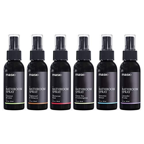 (Mask Toilet Spray, Mixed Fragrance, 2-Ounce (6 Pack), Deodorizer Bathroom Spray)