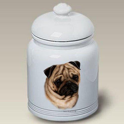 Pug Fawn - Tamara Burnett Treat Jars