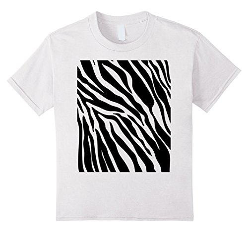 Kids Zebra Print Shirt, Simple Halloween Costume Idea Gift 4 White (4 Halloween Costume Ideas)