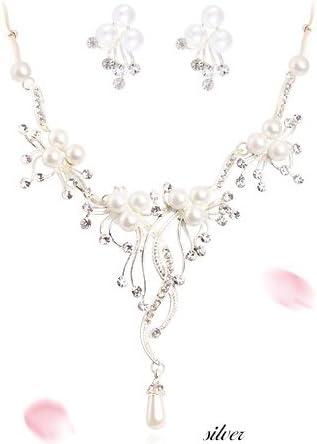 boucle d/'oreille mariage cérémonie soirée *PARURE BIJOUX Mariée strass *collier