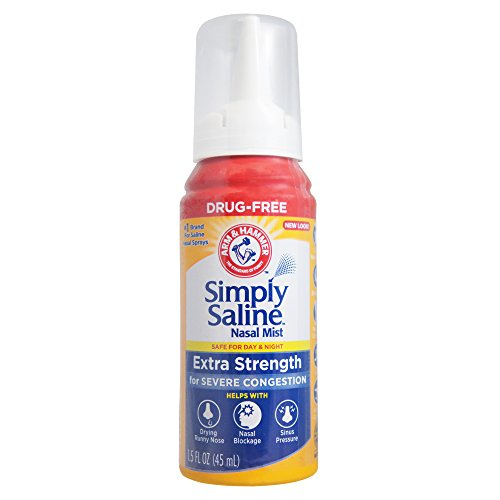Simply Saline Extra Strength Nasal Mist 1.5 oz (Pack of 9) by Simply Saline