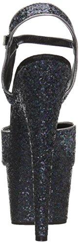 Fesselriemchen Sandaletten Adore-710LG - sexy High Heels von Pleaser Blk Holo Glitter/Blk Holo Glitter