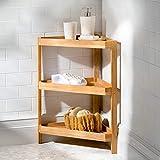 Teak Corner Stand Shelf Unit by Improvement