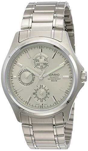 Casio Enticer Men Analog Silver Dial Men #39;s Watch   MTP 1246D 7AVDF A388