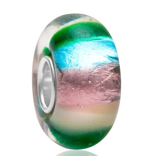 Lampwork Murano Glass Beads - Authentic 925 Sterling Silver Core - Fit European Style
