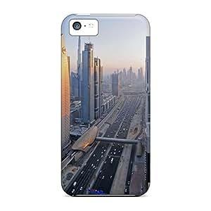 Iphone 5c XaW5891pakK Downtown Dubai Widescreen Tpu Silicone Gel Case Cover. Fits Iphone 5c