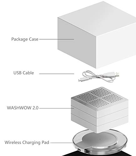Mini multifunction Washing Machine with Portable Hyperacoustic and WirelessCharging for Business People, Baby Multifunctional Equipment for Travelling Clean the Perspiration by WASHWOW (Image #4)