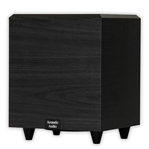 Acoustic Audio PSW-6 Down Firing Powered Subwoofer (Black) (Audio Subwoofer Acoustics)