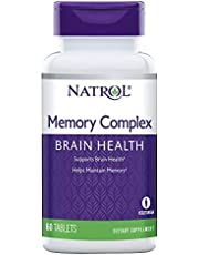 Natrol Memory Complex, Brain Health, 100% Vegetarian, 60 Count Tablets
