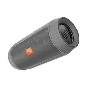 JBL Charge 2+ - Altavoz portátil inalámbrico con Bluetooth (entrada estéreo de 3,5 y función Compartir; compatible con dispositivos Apple iOS y Android), color gris