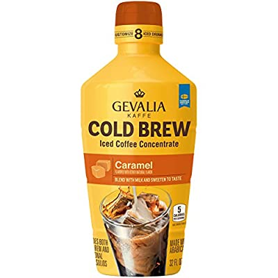 Gevalia Cold Brew Caramel Iced Coffee Concentrate, 32 Ounce