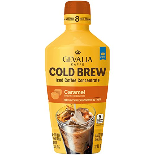 Gevalia Caramel Cold Brew Iced Coffee Concentrate (32 oz Bottle) (Best Store Brand Coffee)