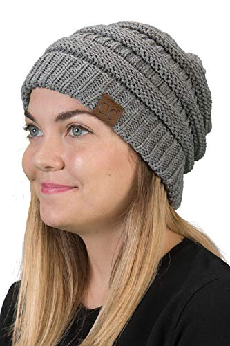 Solid Ribbed Beanie - Heather Grey