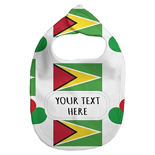 Heart Flag Bib - Fleece Bib Custom Guyana Country Flag Heart Pattern Unisex Children, One Size
