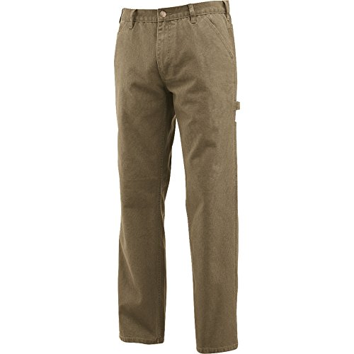Wolverine Men's Hammerloop Cotton Duck Canvas Utility Pant, Hickory,  36x34