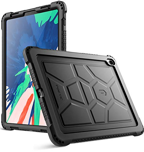 Ipad Pro 11 Inch Case Poetic Turtleskin Series Corner Protection Grip Not Supported Apple Pencil Magnetic Attachment Protective Silicone Case For Apple Ipad Pro 11 Inch 2018 Black
