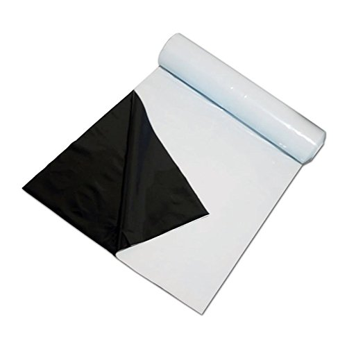 PAR-TEK LIGHTING Black & White Polar Panda Bear Plastic Poly Sheeting, Strongest, Thickest, Light Tight 10' X 50' by PAR-TEK LIGHTING