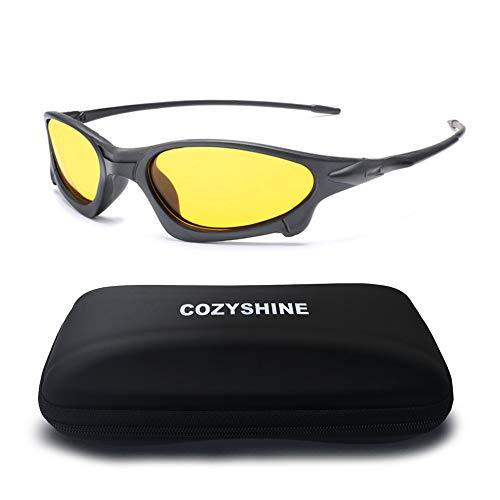 para Hombres Deportivas Gafas antideslumbrante Amarillas polarizada Lentes de 1034 Gafas Nocturna de KOMNY C Conductor visión Gafas de conducción para Sol Guía D wzXIxI
