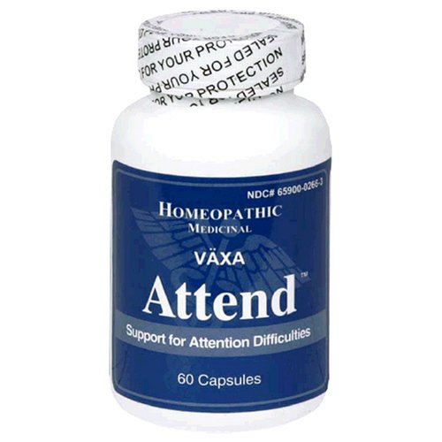 VAXA Homeopathic Medicinal Attend, Support for Attention Difficulties, Capsules, 60-Count Bottle