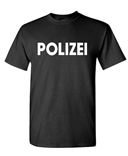 Polizei - German Police cop Novelty Duty Tee Shirt T-Shirt, L, Black (Polizei-designer)