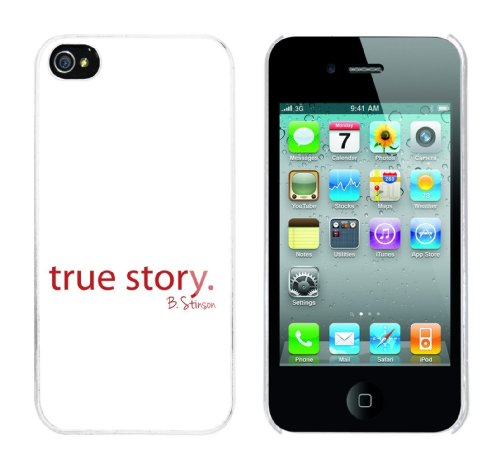Iphone 4 Case True Story - B. Stinson Rahmen weiss