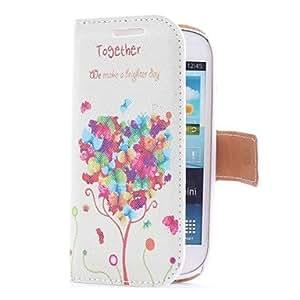 Teléfono Móvil Samsung - Cobertor Posterior/Fundas con Soporte - Diseño Especial - para Samsung S3 Mini I8190N ( Multi-color , Cuero PU )
