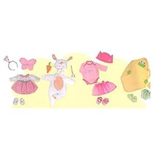Famosa Nenuco Ropita Disfraces - Surtido de 4 disfraces para muñeco Nenuco (rana, princesa, mariposa, conejo)