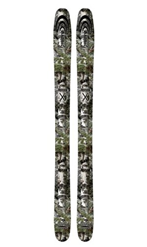 Chronic Mossy Oak Alpine Snow Skis 105C All Mountain Wood Core Metal Wrapped Edges Easy Carving Strong Durable Carbonium Topsheets Comfortable Ride For Men And Women 135/105/124 - 191cm (171 cm) (Line Skis All Mountain Skis)