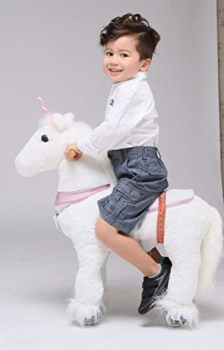 - UFREE Horse Action Pony, Walking Horse Toy, Rocking Horse with Wheels Giddy up Ride on for Kids Aged 3 to 5 Years Old (Unicorn Pink Horn (Fulfilled by Amazon))