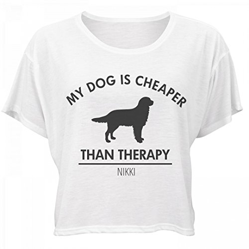 Dog Is Cheaper Than Therapy Nikki: Bella Women's Flowy Boxy Tee (Nikki Bella Outfit)