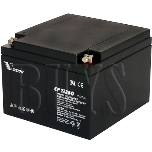 - S CP12260 Sealed AGM 12v 26ah Vision Battery replaces BAT-12260, WP24-12, WP24-12N, WP26-12, WP26-12B, WP26-12N, WP26-12NB, ES26-12, ES26-12SA, RT12260, BAT-1226, UT-12240, IM-12240, NP24-12, NP24-12B, 12CE26, CF-12V26, ELK-12260, 6FM24, 6-FM-24, 6-FM-26, CB24-12, ES26-12