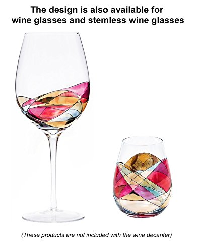 ANTONI BARCELONA Stemless Wine Glass - SET 1 - Unique Hand Painted Gifts for Women, Men, Wedding, Anniversary, Couples, Engagement by Antoni Barcelona (Image #5)