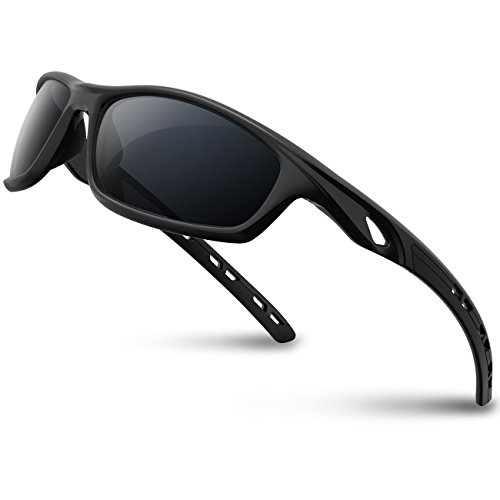 RIVBOS Polarized Sports Sunglasses Driving Sun Glasses Shades for Men Women Tr 90 Unbreakable Frame for Cycling Baseball Running Rb833 ()