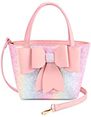 Mibasies kids Purse for Little Girls Toddlers Handbag with Bowknot