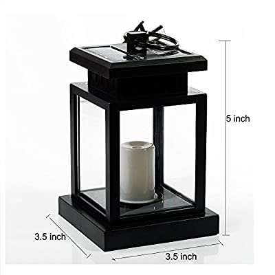 [Pack of 4] Lvjing Vintage Waterproof Solar Powered Hanging Umbrella Lantern Led Candle Lights with Clamp for Beach Umbrella Tree Pavilion Garden Yard Lawn Camping etc. Lighting & Decoration