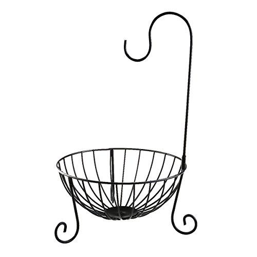 WINOMO Kitchen Fruit Basket with Detachable Banana Hanger Holder ()