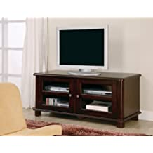 Inland Empire Furniture Ransford Cappuccino Solid Wood Flat Panel TV Stand