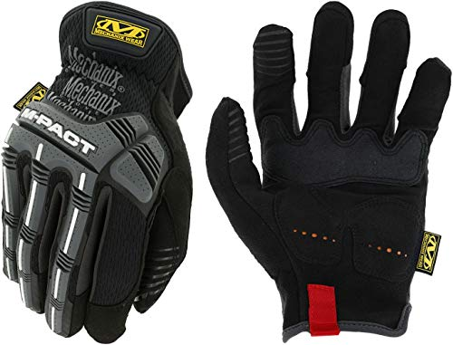 (Mechanix Wear - M-Pact Open Cuff Work Gloves (X-Large, Black/Grey))