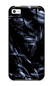 Unique Design Iphone 5c Durable Tpu Case Cover Shapes Textures Shades Artistic Cgi Tech Patterns Dark Abstract Dark