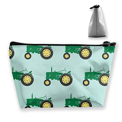 TLDRZD Green Tractor Pencil Case Bag Zipper Bag Coin Bag Makeup Bag Pouch Storage Bags Large Capacity Pen Holders for Children School Kids Boys Girls Women Gift