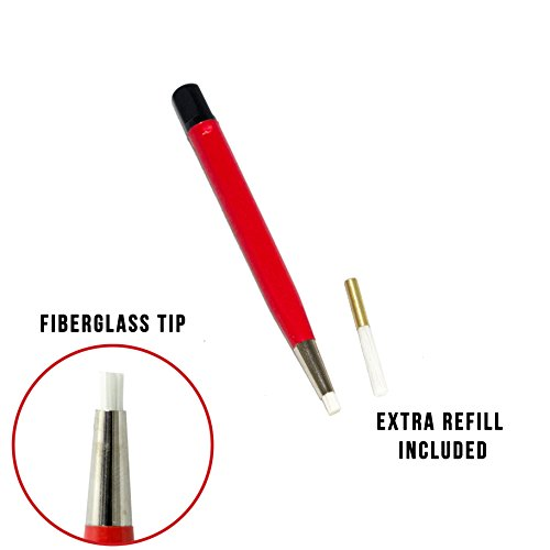 Fiberglass Prep Pen, Sanding Pen, Scratch Pen | Remove Rust and Corrosion | For Jewelry, Electrical Circuit Boards, and Autobody Work (Prep Jewelry)