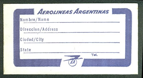Aerolineas Argentinas crack-&-peel airline baggage sticker unused