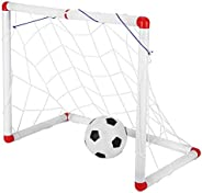 Mini Net and Ball Set with Pump, Soccer Goals Portable Foldable Soccer Net Outdoor Toys Folding Goal for Backy