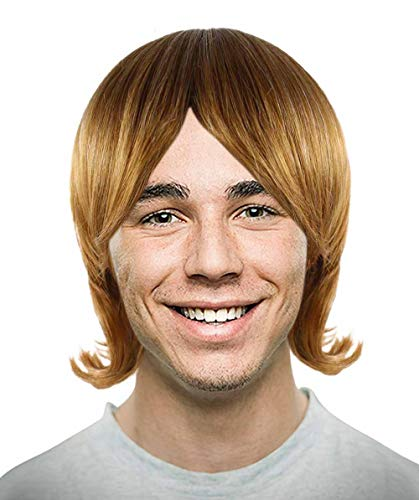Halloween Party Online 70's Brown Shag Wig Adult HM-276