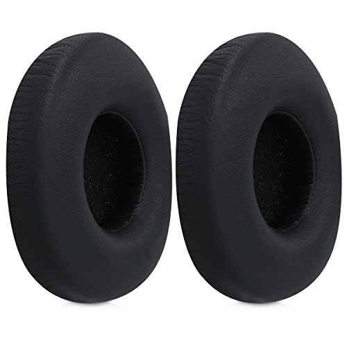 kwmobile 2x earpads for AKG Y50 Earphones - Leatherette replacement ear pad for AKG Headphones - black by kwmobile