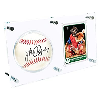 Ultra Pro Collectors Clear Ball & Card Flip Display: Sports & Outdoors