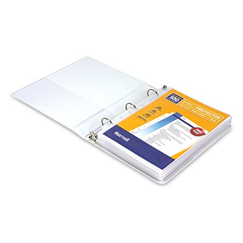 Samsill Heavyweight Clear Mini Binder Sheet Page