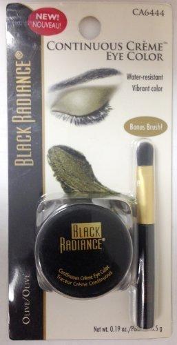Black Radiance Continuous Creme Eye Color Water Resistant Vibrant Color Olive Ca 6444 (Bonus Brush)