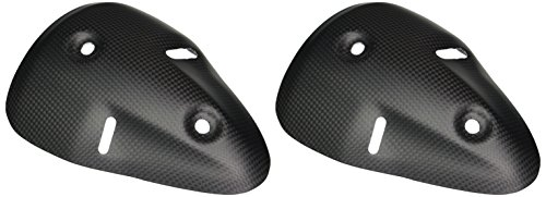 Bestem CBDU-696-EHC-F Black Carbon Fiber Matte Finish Rear Exhaust Covers for Ducati Monster 696/1100