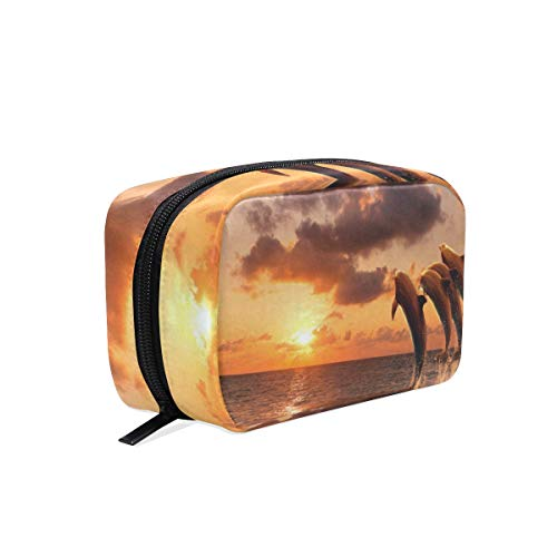 Bag The It Avon (Makeup Organizer Sunset Dolphin Womens Zip Toiletry Bag Large Case Cosmetic Bags)
